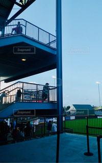 スタジアムの階段の写真・画像素材[1158533]