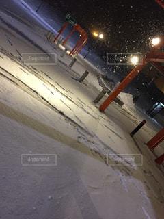 雪つもるサービスエリアの写真・画像素材[1283655]