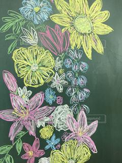 花の黒板アートの写真・画像素材[719693]