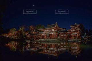 平等院鳳凰堂のライトアップの写真・画像素材[887962]
