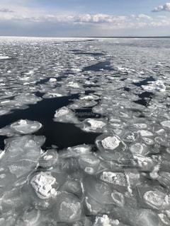船からの流氷の写真・画像素材[733199]