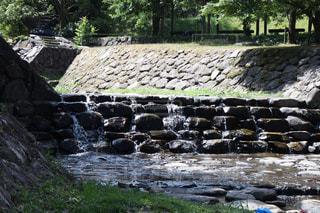 川で水遊びの写真・画像素材[722438]