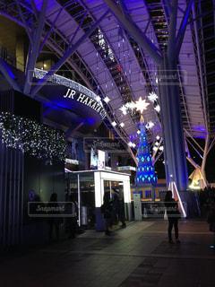 博多駅のイルミネーションの写真・画像素材[722850]