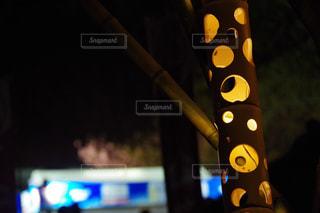 竹灯籠の写真・画像素材[1100552]