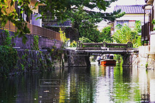 柳川の川下りの写真・画像素材[1664759]