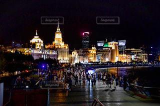 上海バンドンの夜景です。の写真・画像素材[721792]