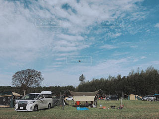 フィールドに駐車の写真・画像素材[850189]