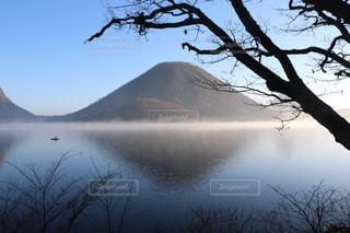 榛名富士と逆さ富士の写真・画像素材[1644088]