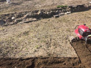 畑を耕すの写真・画像素材[1057791]
