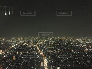 夜の街の景色の写真・画像素材[727212]