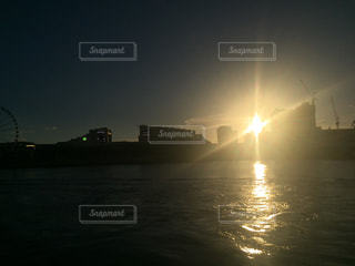 夕日強っ!の写真・画像素材[725336]