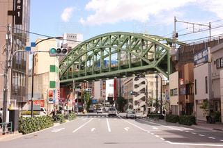 松住町架道橋  秋葉原の鉄橋の写真・画像素材[725639]