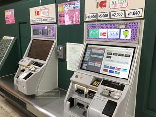 都営地下鉄の券売機の写真・画像素材[745781]