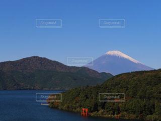 富士山と箱根神社の鳥居 - No.833597