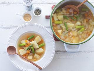 野菜たっぷりのスープの写真・画像素材[1665858]
