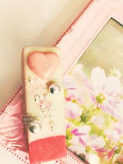 チョコレートとピンクの額 - No.998335
