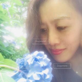 紫陽花と私の写真・画像素材[1276873]