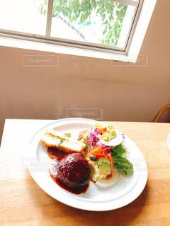 カフェでランチの写真・画像素材[1591982]