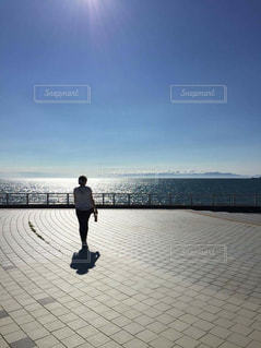 海と私の写真・画像素材[2028286]