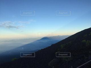 幻想的な富士山の影。の写真・画像素材[727165]