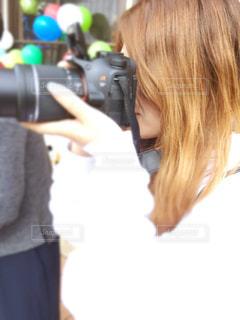 カメラ女子の写真・画像素材[806465]