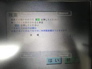 ATM残高の写真・画像素材[1183963]