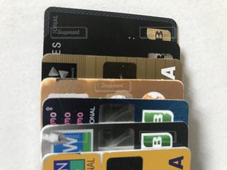 僕の持ってるクレジットカードの写真・画像素材[2235344]