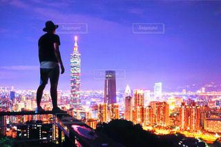 夜の街の景色の写真・画像素材[755487]