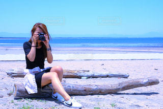 カメラ女子の写真・画像素材[770474]
