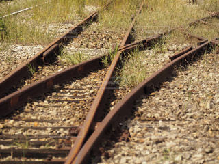 電車の線路の写真・画像素材[1527289]