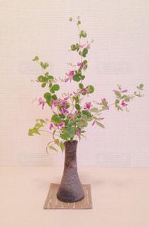 テーブルの上の花瓶の写真・画像素材[734154]