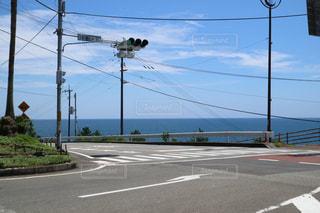 空と海と信号の写真・画像素材[730545]