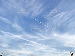空と飛行機の写真・画像素材[730546]