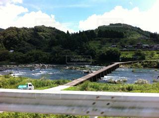 川と橋の写真・画像素材[734477]