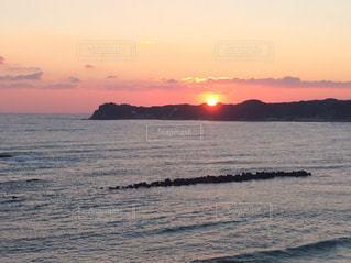 沈む夕日5の写真・画像素材[743816]