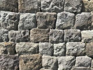 テクスチャシリーズ 石壁002の写真・画像素材[1215955]