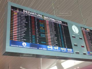 クアラルンプール国際空港の出発案内の写真・画像素材[1421197]