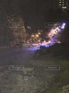 西の河原の夜の写真・画像素材[805362]