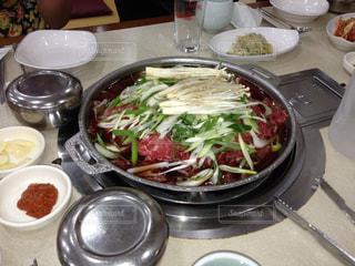 2013年の夏に韓国で食べたサムギョプサルの写真・画像素材[805476]