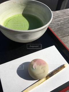 和菓子と抹茶の写真・画像素材[732599]