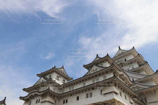 曇りの日に城の写真・画像素材[730436]