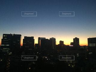 都心の夜明けの写真・画像素材[732332]