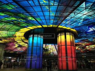 台湾高雄駅 ステンドグラスの写真・画像素材[730900]
