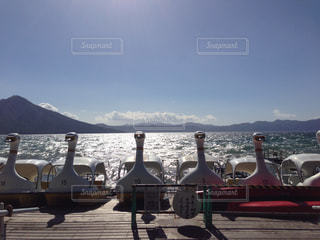支笏湖の写真・画像素材[730982]