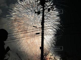 空に花火の写真・画像素材[731345]