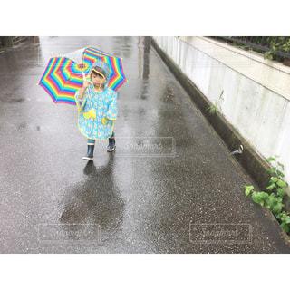雨のお散歩も好きの写真・画像素材[731483]