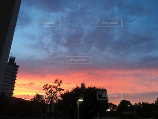 夕暮れ時の都市の景色の写真・画像素材[731665]