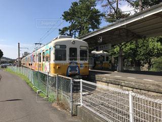 香川のレトロ鉄道、ことでん列車の写真・画像素材[733391]