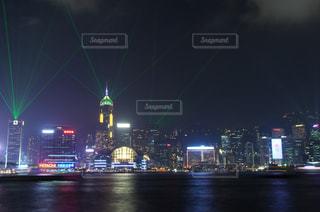 香港夜景 シンフォニー・オブ・ライツの写真・画像素材[885935]