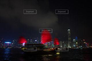 香港夜景 シンフォニー・オブ・ライツの写真・画像素材[885936]